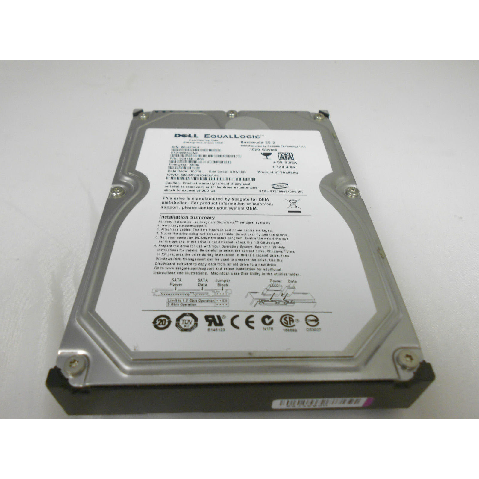 9JW154-536 - Dell EqualLogic 1TB SATA HDD