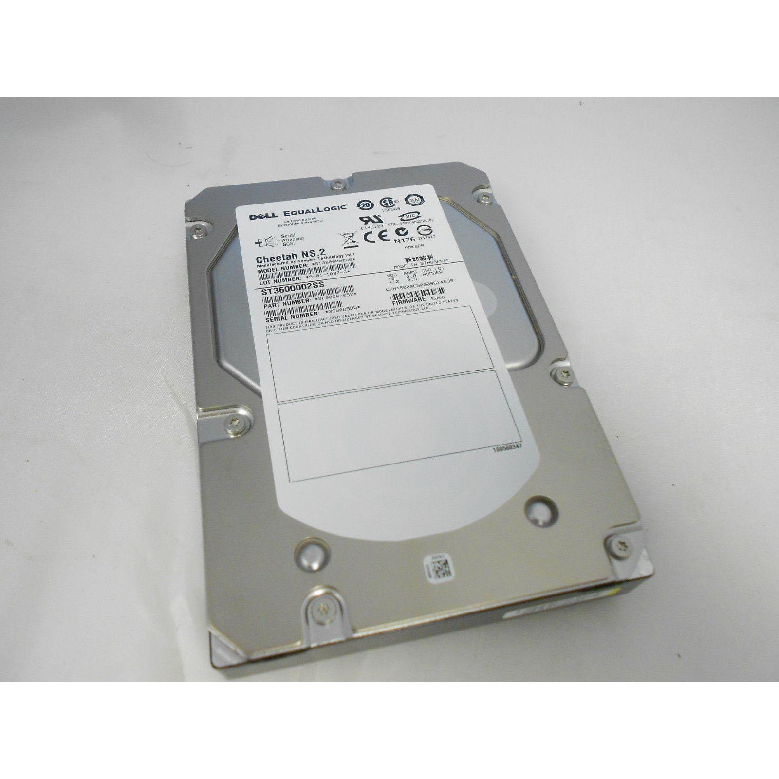 9FS066-057 - Dell EqualLogic 600GB 10k SAS HDD - ST3600002SS