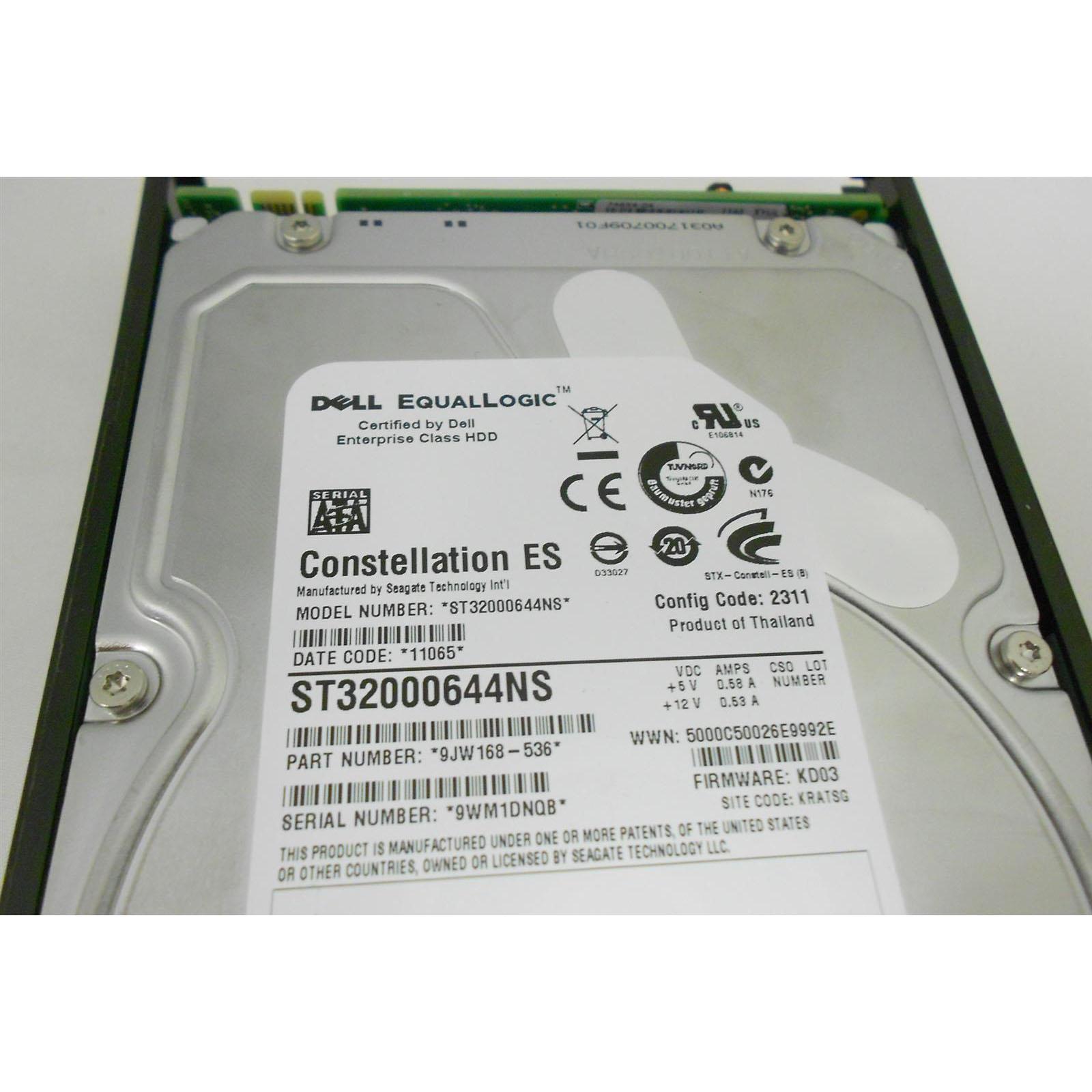 9jw168-536 Dell EqualLogic 2TB SATA HDD