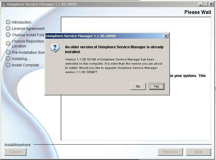 unisphere service manager