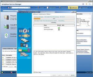 Figure 3.19 - Software Maintenance Status - Show Steps