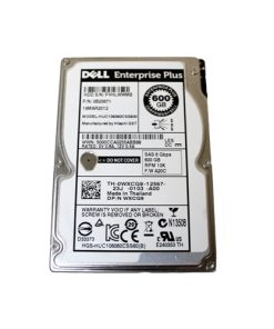 "WXCG9 Dell EqualLogic 600GB 10K 6Gbps SAS 2.5"" HDD - 0B24671, HUC106060CSS600"