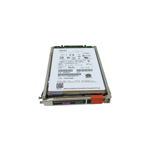"005050674 EMC XtremIO 800GB 2.5"" 12Gb/s SAS SED (Self Encrypting Drive) SSD - HUSMM8080ASS201, 0B29644, 118033288-01"
