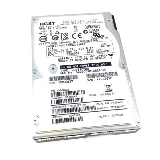 "00V7529 IBM 900GB 10K 6Gbps SAS 2.5"" HDD for N-Series - 00V7528, HUC109090CSS600, 2857-4102"